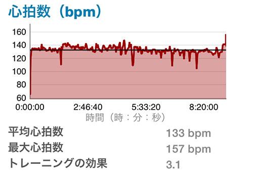 レース中の心拍数