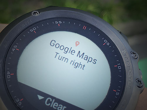 Garmin Fenix 3 浅いレビュー(26) 通知機能(Notifications)はGoogle Mapsのナビも通知してくれる