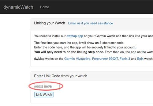 4文字-4文字を入力してLink Watchのボタンを押す