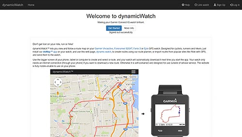 dwMap for Garmin GPS Watches | dynamicWatch