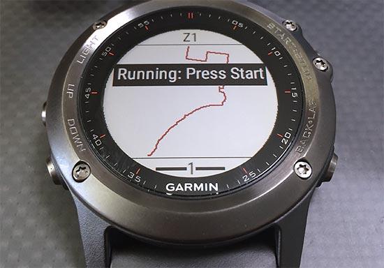最初は今までSet current watch routeに設定していたルートが表示される