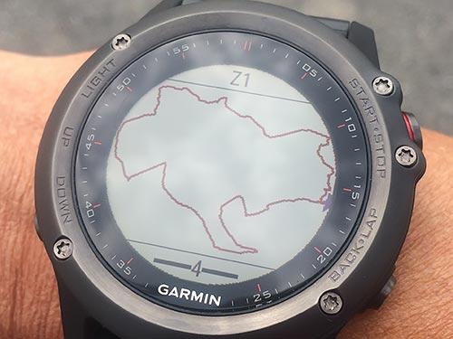 Garmin Fenix 3 浅いレビュー(29) CIQアプリ『dwMap』 現時点で、超長距離ではマップのZoomが足らんです