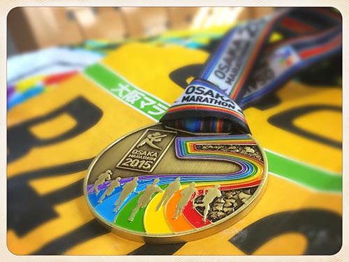 大阪マラソン2015完走メダル
