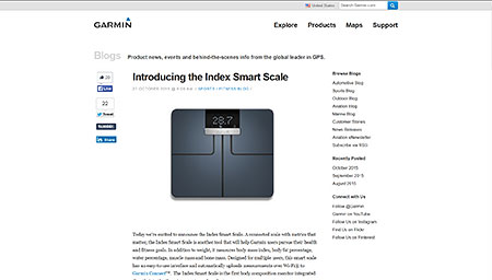 Introducing the Index Smart Scale ≫ Garmin Blog