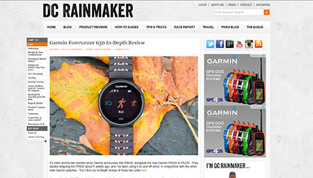 Garmin Forerunner 630 In-Depth Review | DC Rainmaker