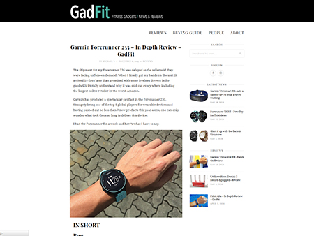 Garmin Forerunner 235 - In Depth Review - GadFit
