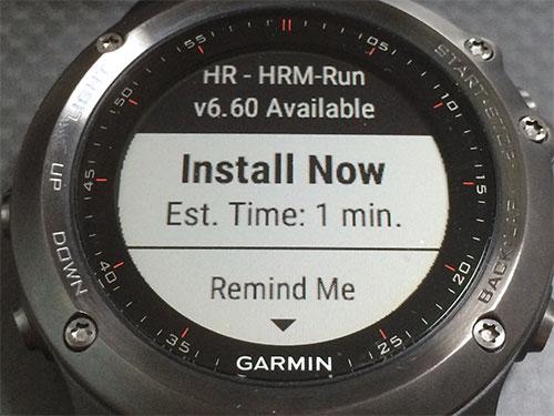 HRM-Runを6.60にアップデート