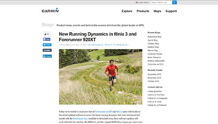 New Running Dynamics in f?nix 3 and Forerunner 920XT ≫ Garmin Blog