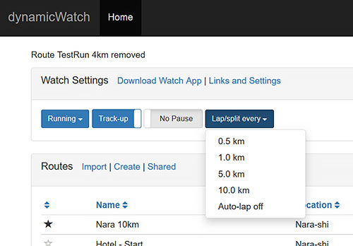 Garmin Fenix 3 浅いレビュー(36) CIQアプリ『dwMap』 にAuto-lapが追加されました