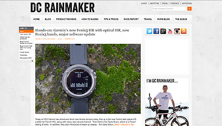 Hands-on: Garmin's new Fenix3 HR with optical HR, new Fenix3 bands, major software update | DC Rainmaker