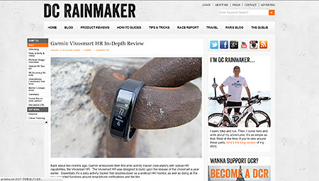 Garmin Vivosmart HR In-Depth Review | DC Rainmaker