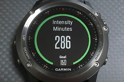 Garmin Fenix 3 浅いレビュー(40) Intensity Minutesのつづき
