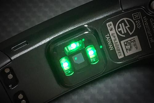 光学式心拍計センサー部