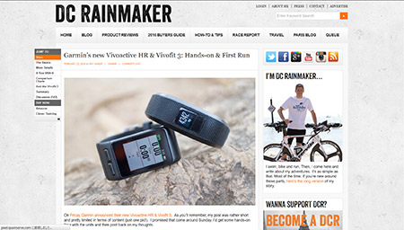 Garmin's new Vivoactive HR & Vivofit 3: Hands-on & First Run | DC Rainmaker
