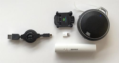 遠征時、一本のmicro USBケーブルで済むのは便利