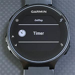 Startボタン > IQ Apps > Timer