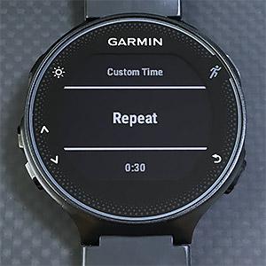 Repeat したい場合は Repeat のところで Start・Stop ボタンを押す。カウントダウン中に REPEAT ON と表示される。
