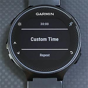 プリセットに無い時間を設定したい場合は Custom Time で。1 秒から 59 分 59 秒まで設定可能。