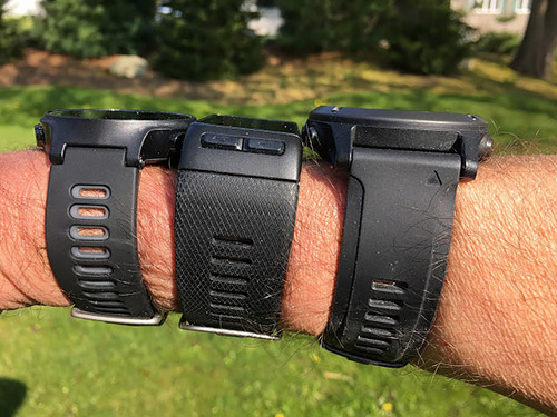 LEFT to RIGHT: Forerunner 735XT, Vivoactive HR, Fenix 3 HRRoad Trail Run: Comparison Review-2016 Garmin GPS Watches with Wrist Heart Rate:Forerunner 735XT, Vivoactive HR, Fenix 3 HR