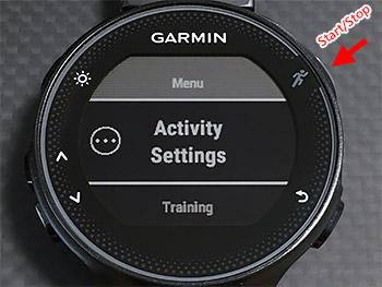 OtherのActivity Settingsが表示されるのでStart/Stopボタンを押す