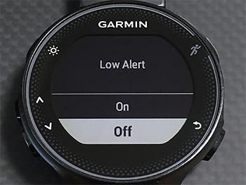 Low Alertを設定したい方はしてください
