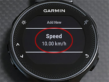 Lapボタン(右下)を押してSpeed 10.00kmを確認して設定終了。ポケモンGO!! (^_^;)