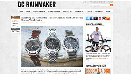 Everything you ever wanted to know: Garmin's new $1,500 Fenix Chronos Watch Series | DC Rainmaker