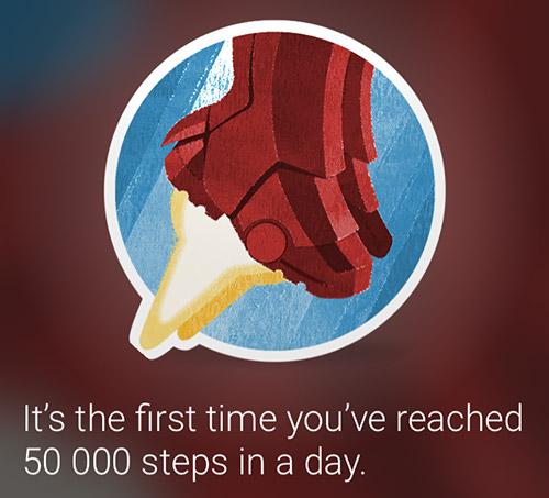 一日50,000歩クリア「Superhero」だそうです