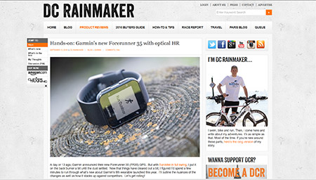 Hands-on: Garmin's new Forerunner 35 with optical HR | DC Rainmaker