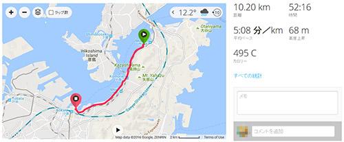 門司港 → 北九州国際会議場 (北九州マラソンのラスト10km)