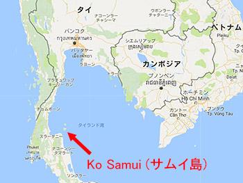 サムイ島はここにある