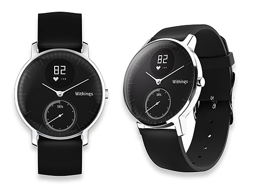 Withings Steel HR - ケース裏側に心拍計内蔵、サイズ2種、白い文字盤のモデルもあり
