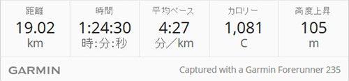 19km走