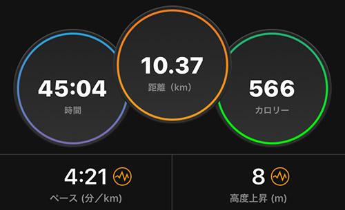 「お先暗め、この週末の10km走でどうなるか」 どうなったかというと