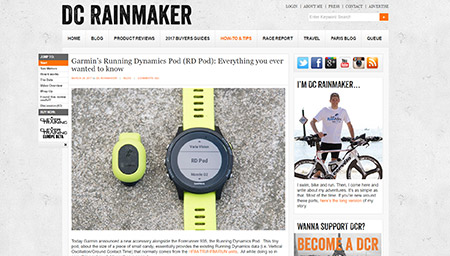 Garmin's Running Dynamics Pod (RD Pod): Everything you ever wanted to know | DC Rainmaker