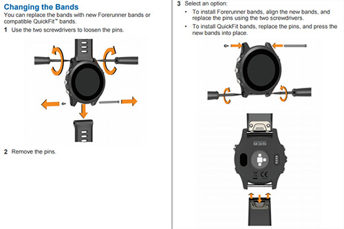 QuickFit watch bandsに交換する手順