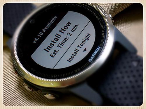Garmin fenix 5S 浅いレビュー(21) ソフトウェアは3.40から4.10へ