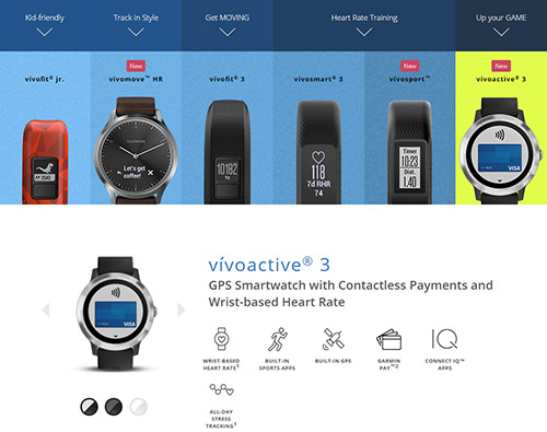 Garmin vivoシリーズに新たに3モデル「vivoactive 3・vivosport・vivomove HR」