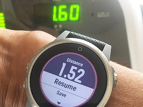 Garmin fenix 5S 浅いレビュー(28) さっそく新機能Treadmill Calibrationを使ってみました