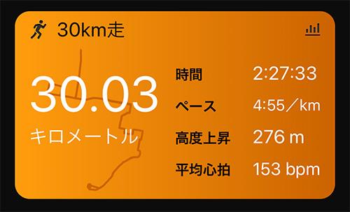 ラン近況(6) やりたくないけどやりました30km走