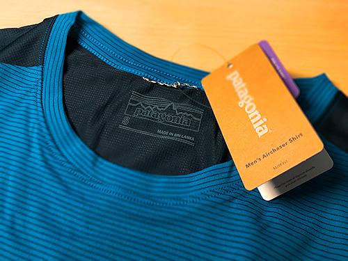 patagonia Airchaser Shirtのサイズはカスタマーサポートの方が言ったとおりサイズSでちょうどよかった